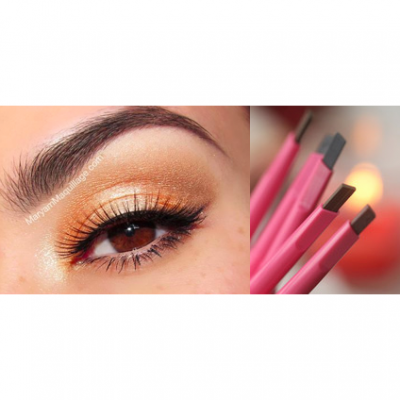 5pcs Pink Fairy Girl Eyebrow Enhancers Automatic Pencil