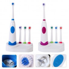 Oral Care Devices Rotation Type Electric Toothbrushes with Four Brush Heads