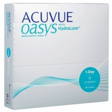 Acuvue Contact Lenses Oasys 1-Day with HydraLuxe For Myopia/Hyperopia 90 Lenses Clear