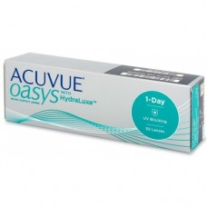 Acuvue Contact Lenses 1-Day Oasys With HydraLuxe For Myopia/Hyperopia 30 Lenses Clear