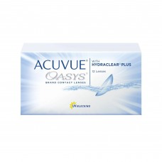 Acuvue Contact Lenses Bi-Weekly Oasys With Hydraclear Plus For Myopia/Hyperopia 12 Lenses Clear