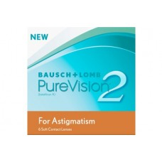 PureVision Contact Lenses 2 HD For Astigmatism - Monthly 6 Lenses Clear