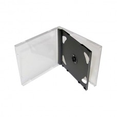 Cd Box For 2 Cd Jewel Case Black Tray BOX9023