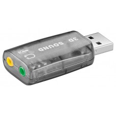 Goobay Usb Sound Card 68878, With Microphone And Headphone Output