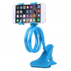 OEM mobile phone clip holder with flexible long arm Blue