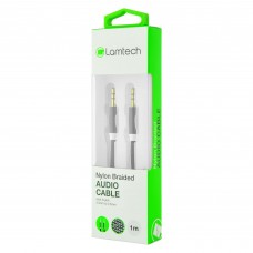 Lamtech Audiocable Braided 1m 3.5mm To 3.5mm Black