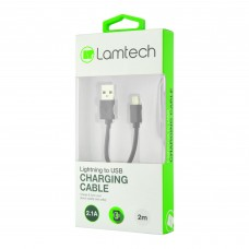 Lamtech Datacable Iphone 5/6/7 2m (Non Mfi) - Black