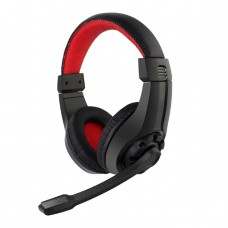 Gaming Headset With Volume Control, Black/Red