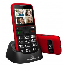 Powertech Mobile Phone Sentry Eco PTM-25, SOS Call, With Flashlight, Red