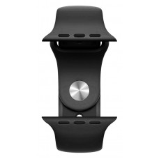 Rockrose Silicone Band Rough Jade For Apple Watch 42 / 44mm, Black